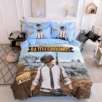 吃鸡四件套纯棉全棉绝地求生床单被套三件套1.5m男孩儿童床上用品 1.2m床(被套三件套) 床单款