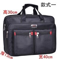 商务男包大容量公文包牛津帆布手提电脑包男士包包单肩文件业务包
