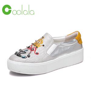 红蜻蜓coolala 2017春季新款女单鞋 学院风潮鞋休闲平底女鞋