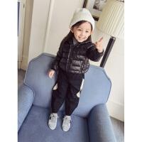 女童装装4轻薄款羽绒服1棉袄男婴儿童2宝宝连帽加厚外套棉衣3岁