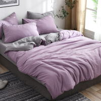 四件套床上用品家纺纯棉被套床单被子枕头套全棉三件套 2.2m (7英尺) 床