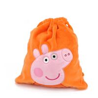 正版佩奇乔治粉红猪小妹佩佩猪男女儿童束口袋零食零钱包包玩具包