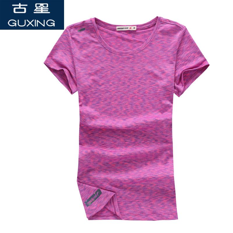 古星夏季新款运动T恤女圆领运动短袖休闲青年潮薄款时尚修身上衣