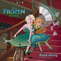 冰雪奇缘书 CD 英文原版 Frozen Fever Read-Along Storybook and CD 迪士尼系