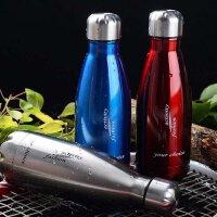 普润 500ML可乐瓶304不锈钢保温杯 双层子弹头水杯真空直身杯保冷杯 PRB04