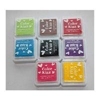 韩国 八色盒装印油印泥 印章 小印章用印油 印泥 DIY相册