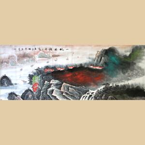 陈学同《一帆风顺》中国美术家协会四川分会会员、 国家一级美术师,中央美院毕业2-48w919
