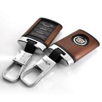 新款凯迪拉克钥匙包扣XTS SRX CTS ATSL XT5 CT6汽车钥匙包套保护壳 A款方形 壳+扣一套(真皮天然