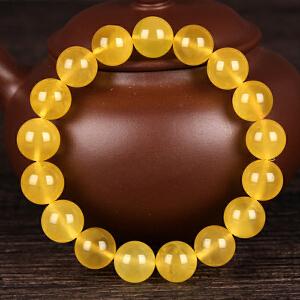 蜜蜡金包蜜无伤无杂无裂圆珠手串 直径11.5mm