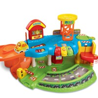 vtech伟易达神奇轨道车停车场儿童益智早教轨道男孩玩具 *