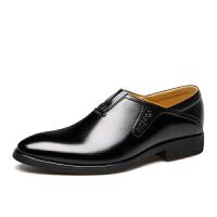 宜驰 EGCHI 商务正装鞋男士时尚休闲套脚皮鞋子男 35135