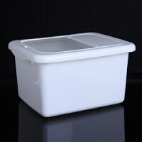 带盖10KG米桶厨房防虫储米箱 米缸大米面10KG密封防尘米面大米收纳箱面粉桶