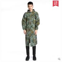 韩版时尚成人学生户外加大加厚防风长雨衣 迷彩长大雨衣