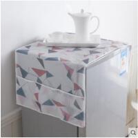 冰箱防尘罩单开门对双开门冰箱罩盖布巾田园洗衣机罩盖巾