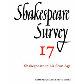 【预订】Shakespeare Survey 9780521523530 美国库房发货,通常付款后3-5周到货!