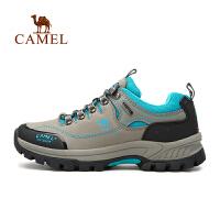 camel骆驼户外登山鞋 男女秋冬防滑低帮牛皮户外徒步鞋