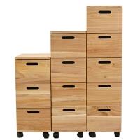柜子储物柜收纳柜加厚卧室置物柜玄关柜边柜夹缝收纳柜实木床头柜