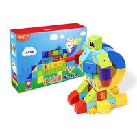 小翰童磁力片积木大颗粒拼插磁力块DIY益智启蒙动手玩具A2-040