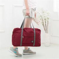 可折�B旅行包女健身手提行李袋�n版大容量�p便短途防水旅游收�{袋