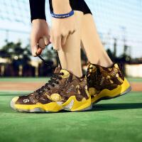 春季篮球鞋男青少年儿童防滑耐磨时尚运动战靴中学生鸳鸯篮球鞋训练鞋