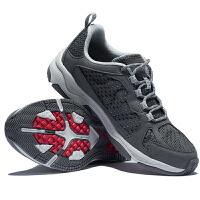 诺诗兰男鞋轻质户外鞋透气防滑厚底徒步鞋耐磨透气登山鞋FH085025