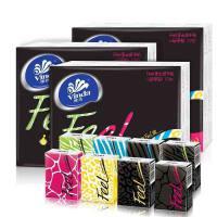 维达FEEL系列V0136手帕纸4层7张12包装 纸巾黑色魅惑香小包餐巾纸