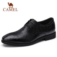 camel骆驼男鞋 秋季新品时尚商务正装皮鞋牛皮防滑办公商务出差皮鞋