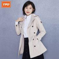 女款2.5L中长双排扣风衣(防水、透气)