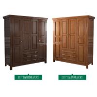 美式乡村实木衣柜 4门开门衣柜大衣橱储物柜美式家具 4门
