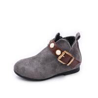 女童靴子秋冬2018新款小女孩单靴公主鞋短靴宝宝马丁靴儿童鞋子
