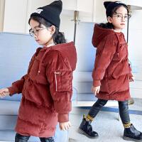 女童棉衣2017新款中长款韩版金丝绒羽绒童装儿童加厚棉袄外套