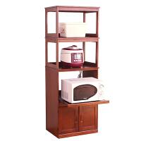日式微波炉柜烤箱架现代实木餐边柜厨房边柜碗柜置物柜餐厅储物柜 单百叶门三层 白色