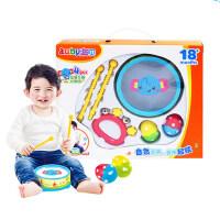 澳贝宝宝奥尔夫启蒙乐器铃鼓组儿童碰铃手敲小鼓打击敲打音乐玩具