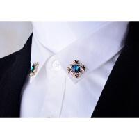 20180826438452018 新款韩版水晶胸针胸花个性十字架小领针领扣女衬衫衣领夹男别针饰品潮性感潮流