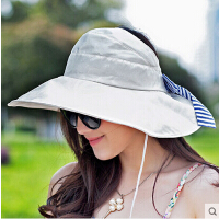 太阳帽女士大沿可折叠防晒凉帽 帽子女遮阳帽 夏天防紫外线