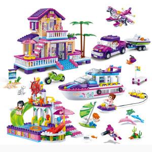 【当当自营】邦宝媚力沙滩之黄金海岸1205粒益智小颗粒拼装积木玩具5岁以上男孩女孩儿童礼物6136