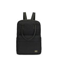 本吉田手双肩电脑包潮流休闲包男女书包购物袋 黑色