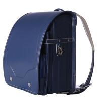 自动锁扣日本小学生书包男女生儿童减负护脊双肩背包轻1-3-5年级 蓝色 全自动锁扣