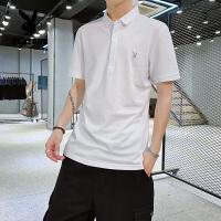 花花公子短袖POLO衫男2020夏季新款男士时尚休闲修身上衣男纯色男装