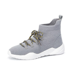 Camel/骆驼女鞋 2018冬季新款潮流时尚袜靴轻盈舒适短筒女靴子