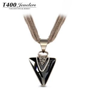 T400项链女锁骨简约日韩国学生吊坠配饰品颈链  三菱镜短链 10921