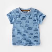 宝宝短袖T恤夏季婴儿圆领纯棉上衣小童装男童半袖体恤儿童夏装