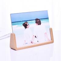 创意欧式相框摆台6寸7寸实木像框儿童婚纱照片定制刻字亚克力相架