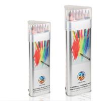 高尔乐KUELOX 36色水溶彩色铅笔三角金属桶装水溶铅笔 筒装彩铅 秘密花园涂色笔