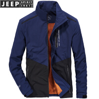 秋装新款吉普JEEP立领加绒加厚男士夹克外套 1532防雨防水茄克衫