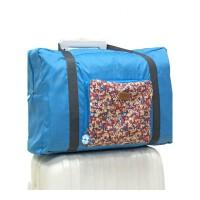 大容量行李袋可爱旅行包叠旅行袋女旅游包牛津布可挂拉杆箱可商务出差、手提包