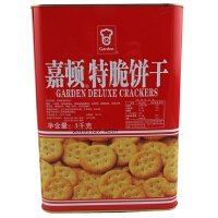 【包邮】嘉顿(Garden) 特脆饼干 1000g 罐装 新年年货饼干