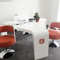办公家具时尚风格白色烤漆创意小型三角形会议桌谈判桌洽谈桌