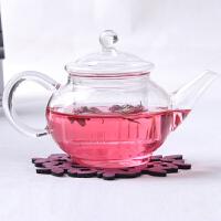 普润 功夫茶壶六人壶 耐高温玻璃小茶壶 花草茶具泡茶壶250ML