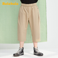 巴拉巴拉儿童裤子男童七分裤夏装2020新款中大童棉麻裤时尚洋气薄